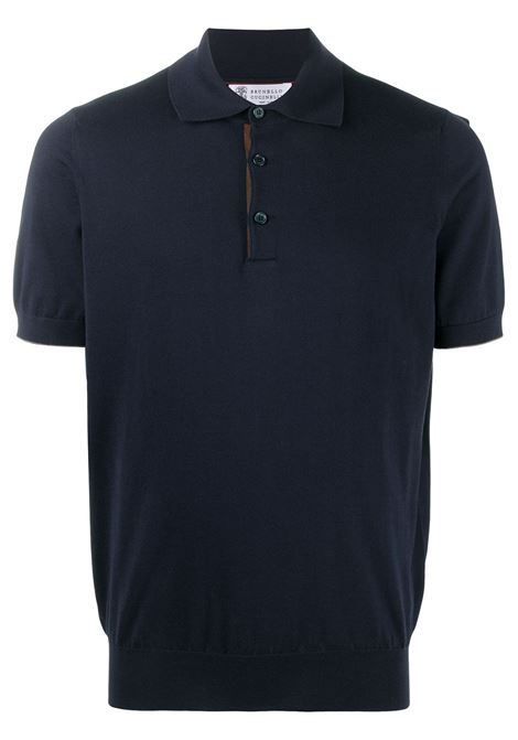 Polo blu BRUNELLO CUCINELLI | POLO | M29801815CU227