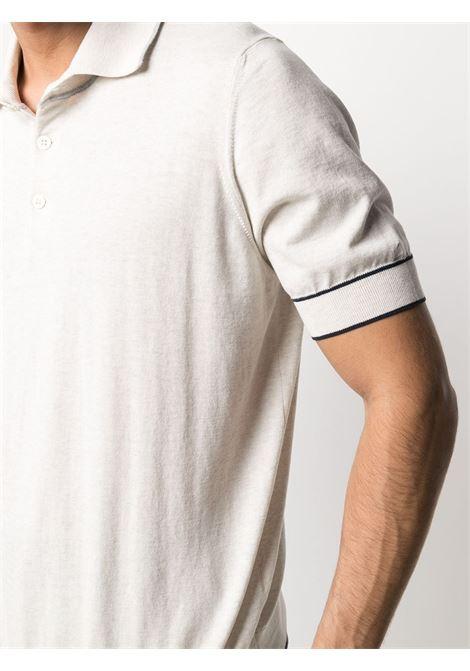 Polo bianco BRUNELLO CUCINELLI | POLO | M29802005CY486