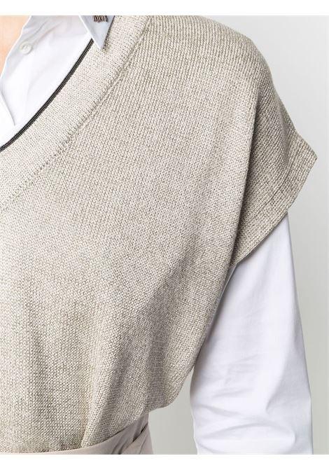 Maglia beige BRUNELLO CUCINELLI | GILET | M74767412CY948