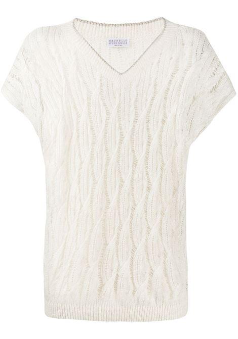 T-shirt bianca BRUNELLO CUCINELLI | MAM585512CF666