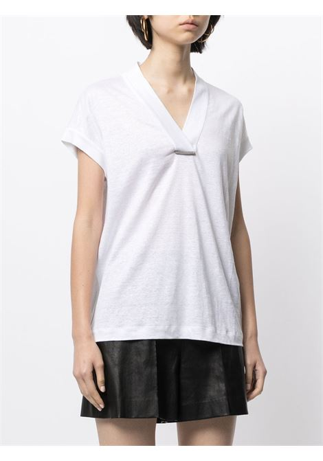White t-shirt BRUNELLO CUCINELLI | T-SHIRT | MF982BQ312C159