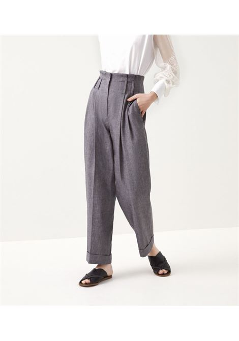 Grey trousers BRUNELLO CUCINELLI | TROUSERS | MH507P7624C2146