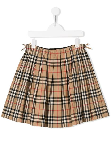 Beige skirt BURBERRY KIDS | SKIRTS | 8012123TA7028