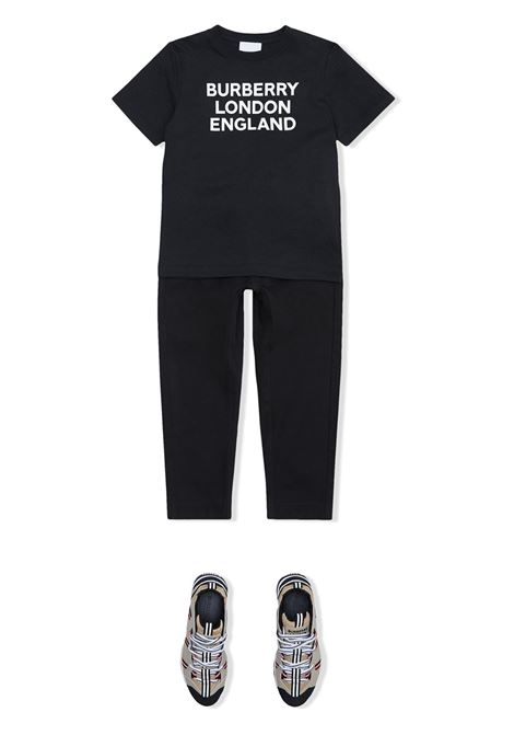 T-shirt nera BURBERRY KIDS | T-SHIRT | 8028809TA1189