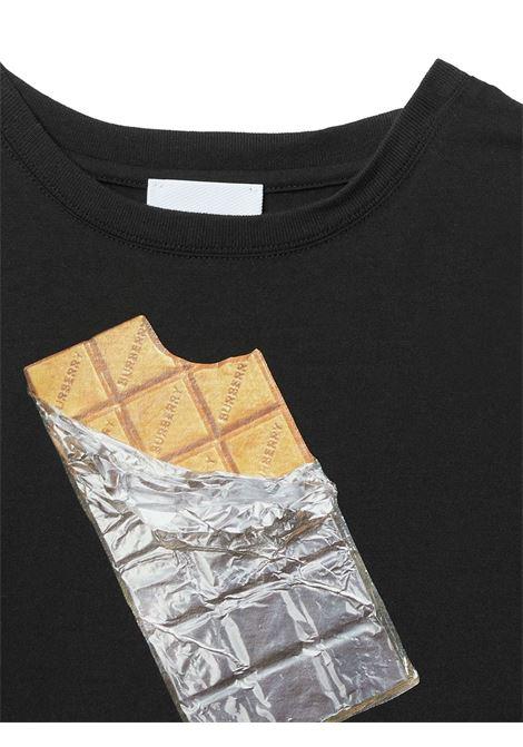 T-shirt nera BURBERRY KIDS | T-SHIRT | 8036902A1189