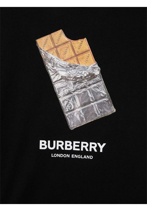 T-shirt nera BURBERRY KIDS | T-SHIRT | 8036902TA1189
