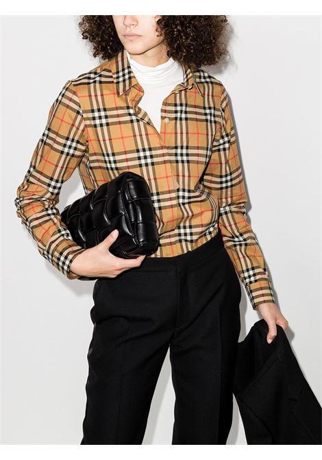 Camicia beige BURBERRY | CAMICIE | 8014010A2219