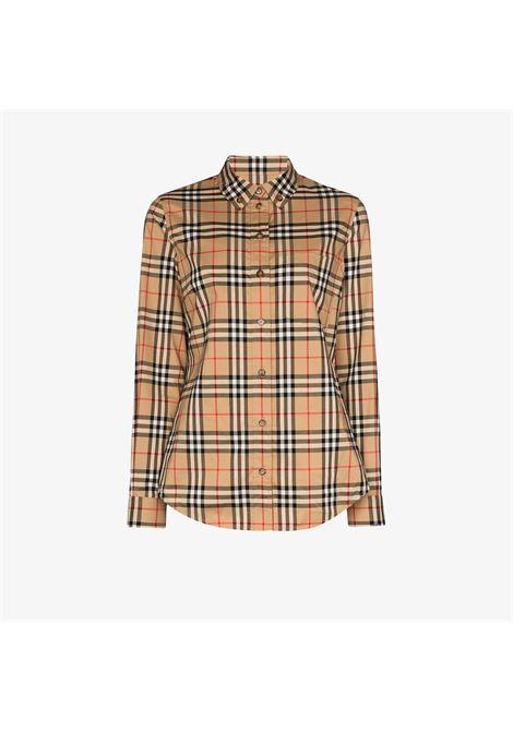 Camicia beige BURBERRY | CAMICIE | 8022284A7028