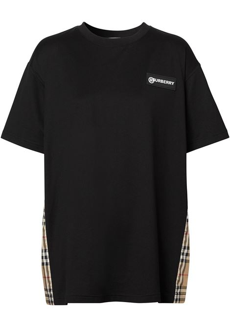 T-shirt nera BURBERRY | T-SHIRT | 8024545A1189