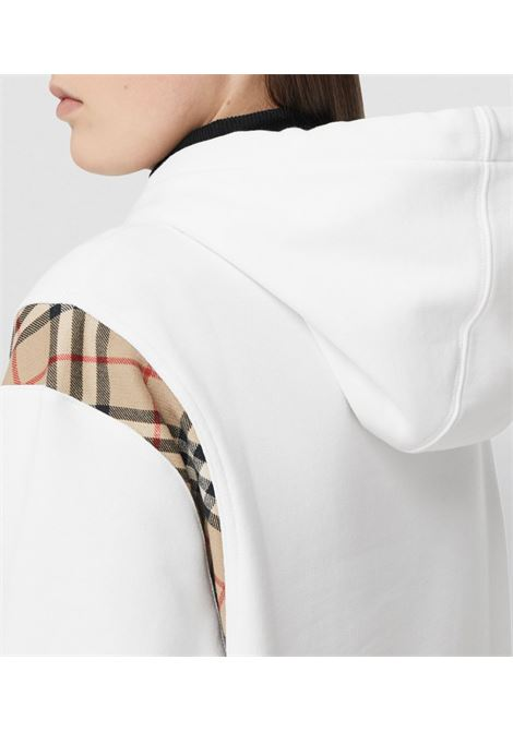 Felpa bianca BURBERRY | FELPE | 8032129A1464