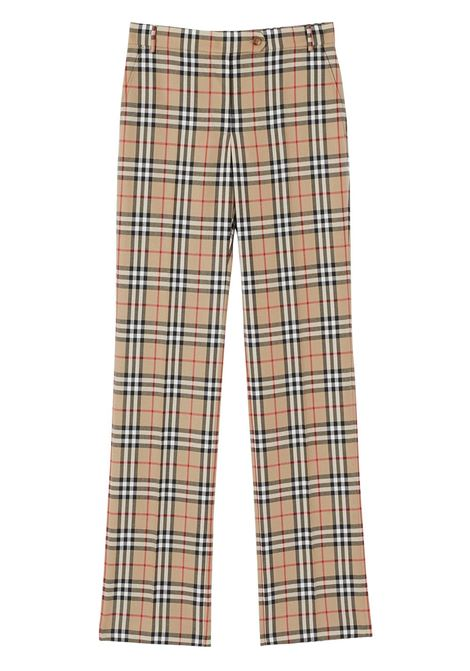 Beige trousers BURBERRY | TROUSERS | 8033467A7028
