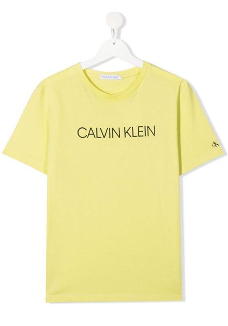 T-shirt gialla CALVIN KLEIN KIDS | T-SHIRT | IB0IB00347TZJB