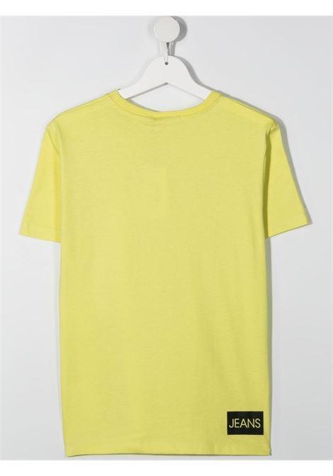 T-shirt gialla CALVIN KLEIN KIDS   T-SHIRT   IB0IB00347TZJB