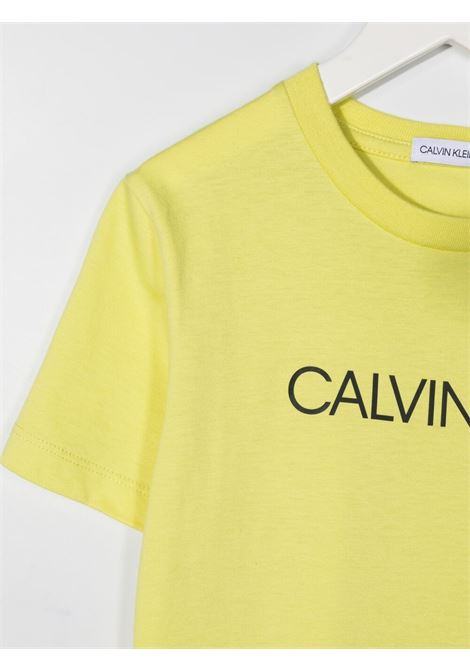 T-shirt giallo CALVIN KLEIN KIDS   T-SHIRT   IB0IB00347ZJB