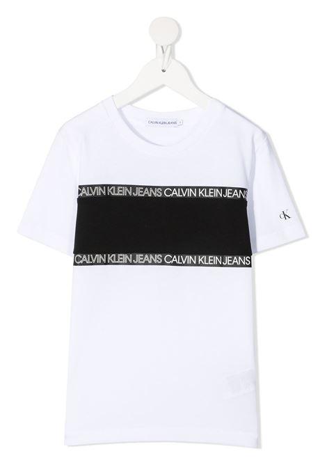 T-shirt bianca CALVIN KLEIN KIDS | T-SHIRT | IB0IB00700YAF