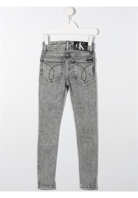 Jeans grigio CALVIN KLEIN KIDS | JEANS | IB0IB007431BY