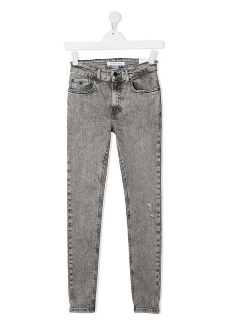 Jeans grigio CALVIN KLEIN KIDS | JEANS | IB0IB00743T1BY