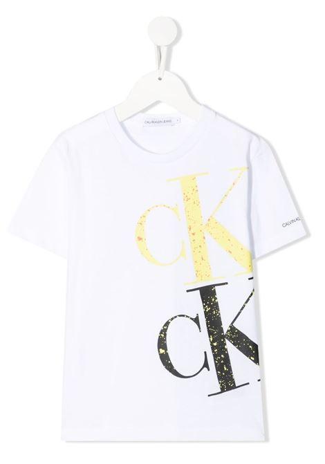 T-shirt bianca CALVIN KLEIN KIDS | T-SHIRT | IB0IB00843YAF