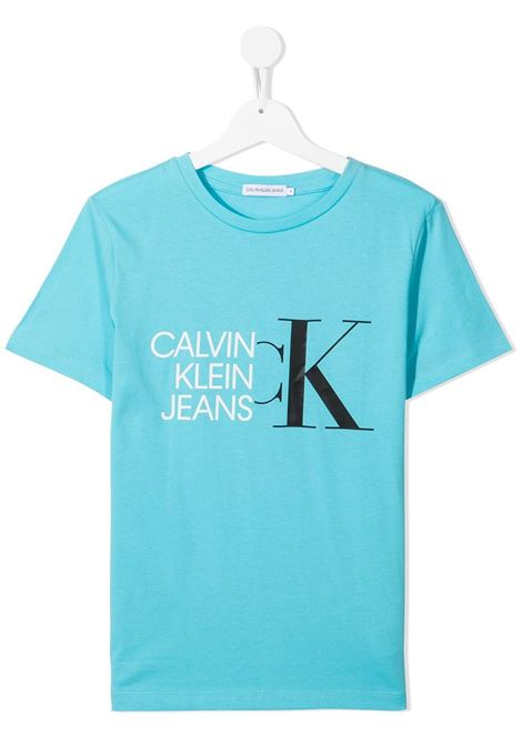 T-shirt blu CALVIN KLEIN KIDS | T-SHIRT | IB0IB00849TCU4