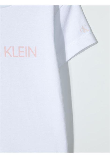 T-shirt bianca CALVIN KLEIN KIDS | T-SHIRT | IG0IG003800LA