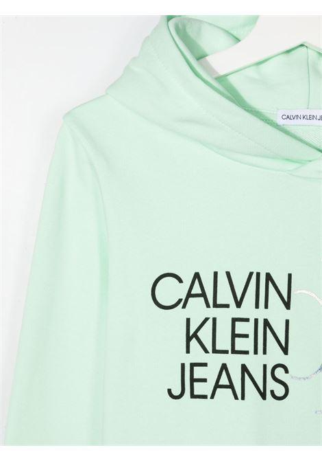 Felpa verde CALVIN KLEIN KIDS | FELPE | IG0IG00873TLZY