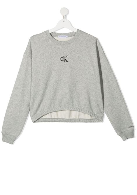 Grey sweatshirt CALVIN KLEIN KIDS | IG0IG00934TPZ2