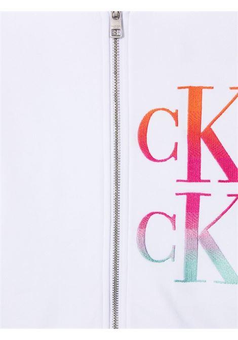 Felpa bianca CALVIN KLEIN KIDS | FELPE | IG0IG00988TYAF