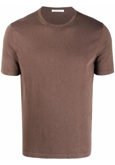 Brown t-shirt  CENERE MAGLIE | FU51135CACAO