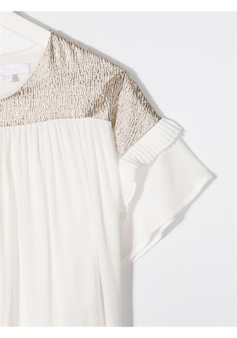 Ivory/gold dress CHLOE KIDS | DRESS | C12828593