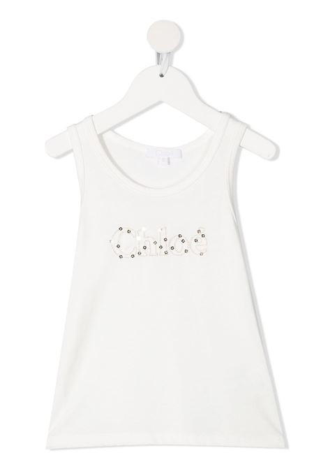 White tank top CHLOE KIDS | TANK TOPS | C15B76117
