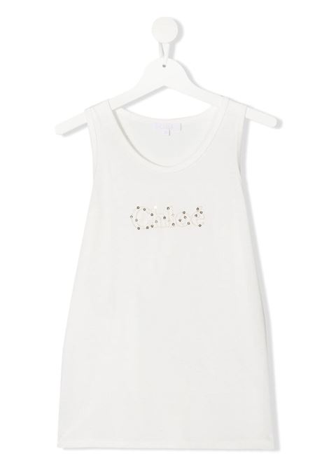 White tank top CHLOE KIDS | TANK TOPS | C15B76T117