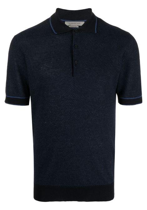 Polo blu CORNELIANI | 87M5641125160001