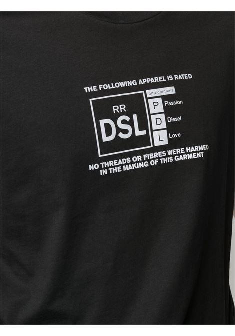 Black t-shirt DIESEL | T-SHIRT | A018360HAYU9XX