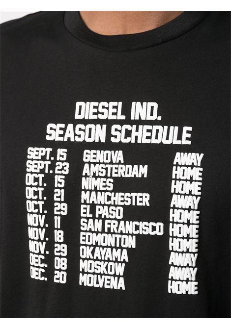 Black t-shirt DIESEL | T-SHIRT | A018410HAYU9XX