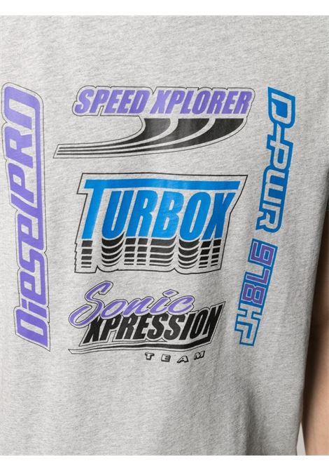 T-shirt grigia DIESEL | T-SHIRT | A023770AAXJ9CB