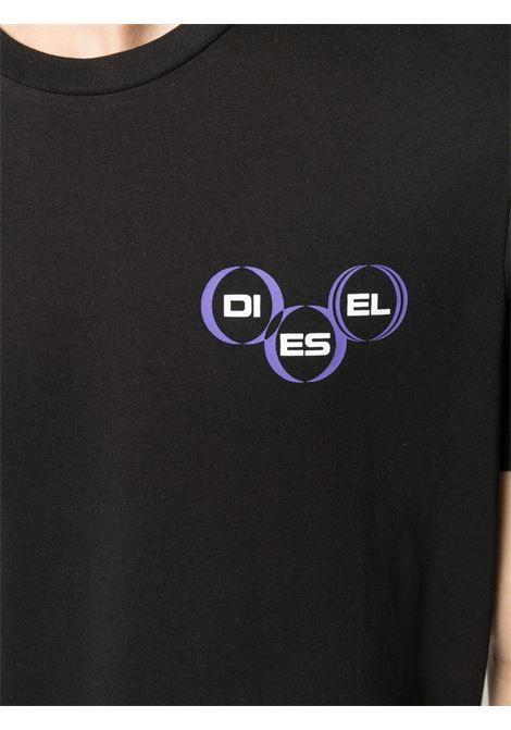 Black t-shirt DIESEL | T-SHIRT | A023790GRAI9XX
