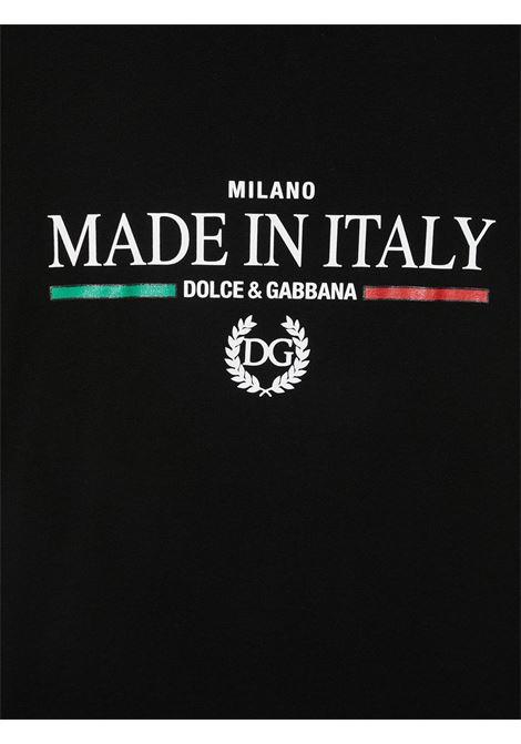 T-shirt nera DOLCE & GABBANA KIDS | T-SHIRT | L4JW2UG7YFIN0000