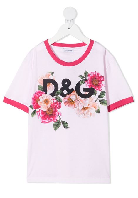 White t-shirt DOLCE & GABBANA KIDS | T-SHIRT | L5JTBEG7YFDHF2AI