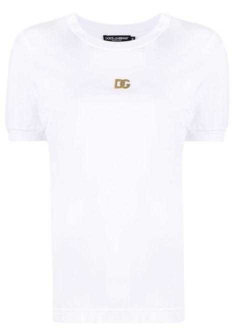 T-shirt bianca DOLCE & GABBANA | T-SHIRT | F8N08ZFU7EQW0800