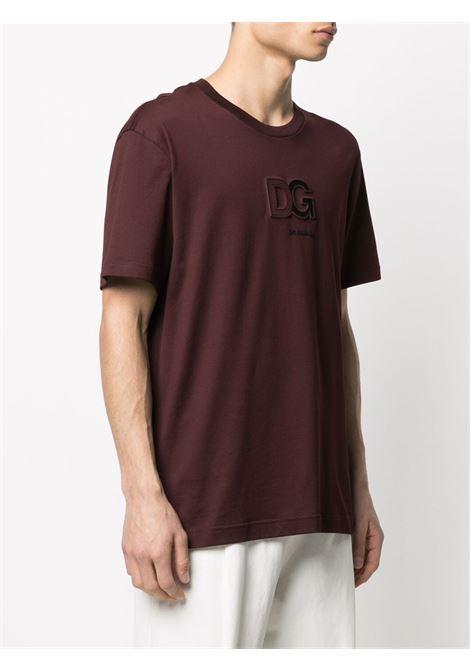 T-shirt marrone DOLCE & GABBANA | T-SHIRT | G8MO2ZFU7EQM5039