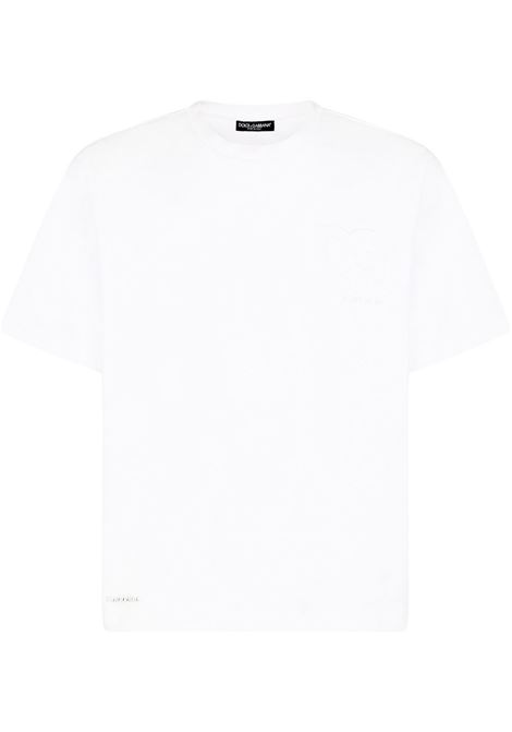 t-shirt bianca DOLCE & GABBANA | T-SHIRT | G8MT4ZFUGK4W0001