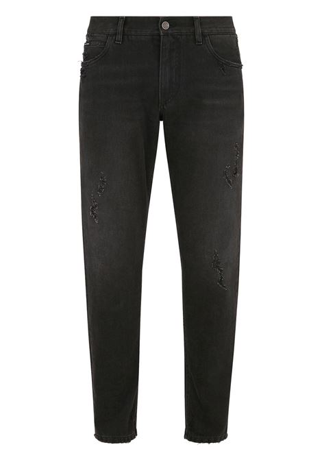 Pantalone nero DOLCE & GABBANA | PANTALONI | GYJCCDG8DL2S9001