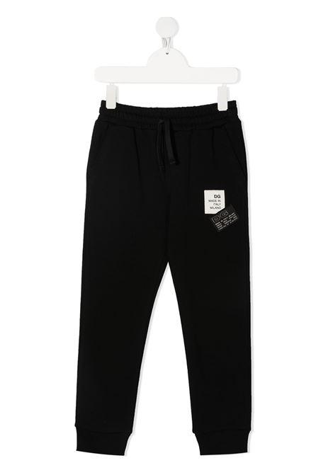Pantalone nero DOLCE & GABBANA KIDS | PANTALONI | L4JPCNG7YGON0000
