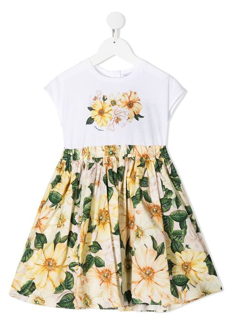 White/yellow dress DOLCE & GABBANA KIDS | DRESS | L5JD1SG7WTJS9000