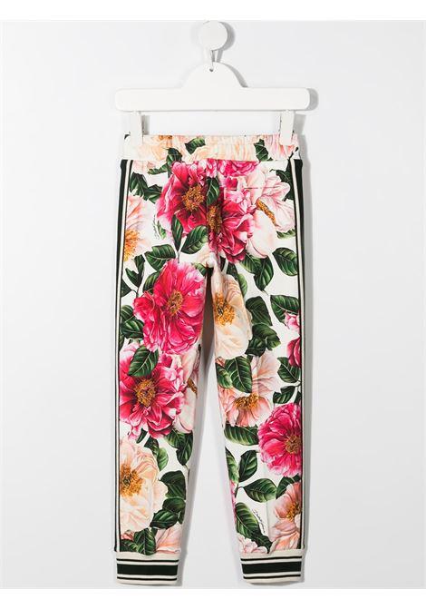 Pantalone floreale DOLCE & GABBANA KIDS | PANTALONI | L5JP4FFSGUDHA2AI