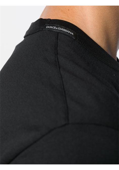 T-shirt nera DOLCE & GABBANA | T-SHIRT | G8JX7TFU7EQN0000