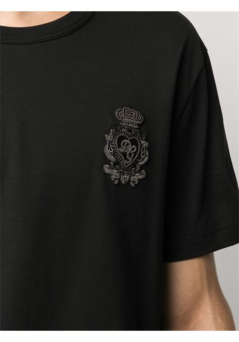 T-shirt nera DOLCE & GABBANA | T-SHIRT | G8KBAZG7VKVN0000