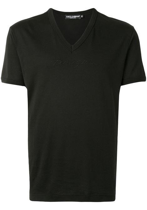 T-shirt nera DOLCE & GABBANA | T-SHIRT | G8KG0ZG7WRNN0000