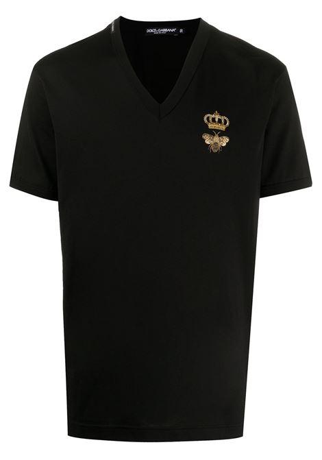 T-shirt nera DOLCE & GABBANA | T-SHIRT | G8KG0ZG7WUQN0000