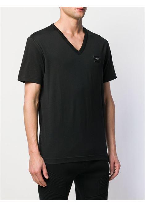 T-shirt nera DOLCE & GABBANA | T-SHIRT | G8KK0TFU7EQN0000